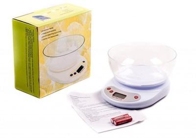 Весы кухонные электронные до 5 кг, с чашей - фото 6644